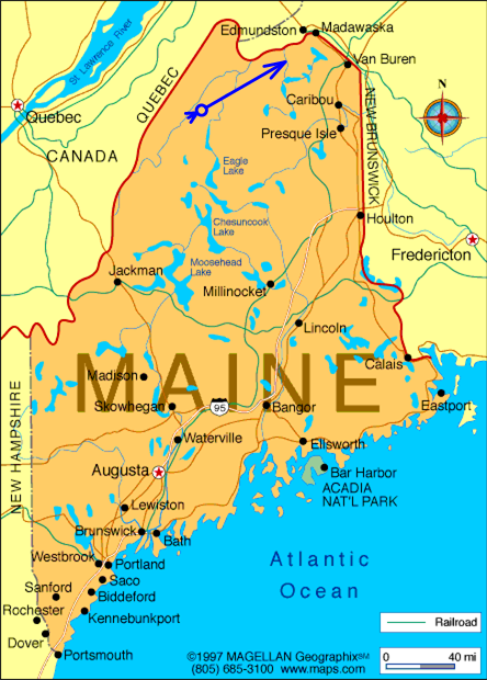 map of quebec and maine North Country Net map of quebec and maine
